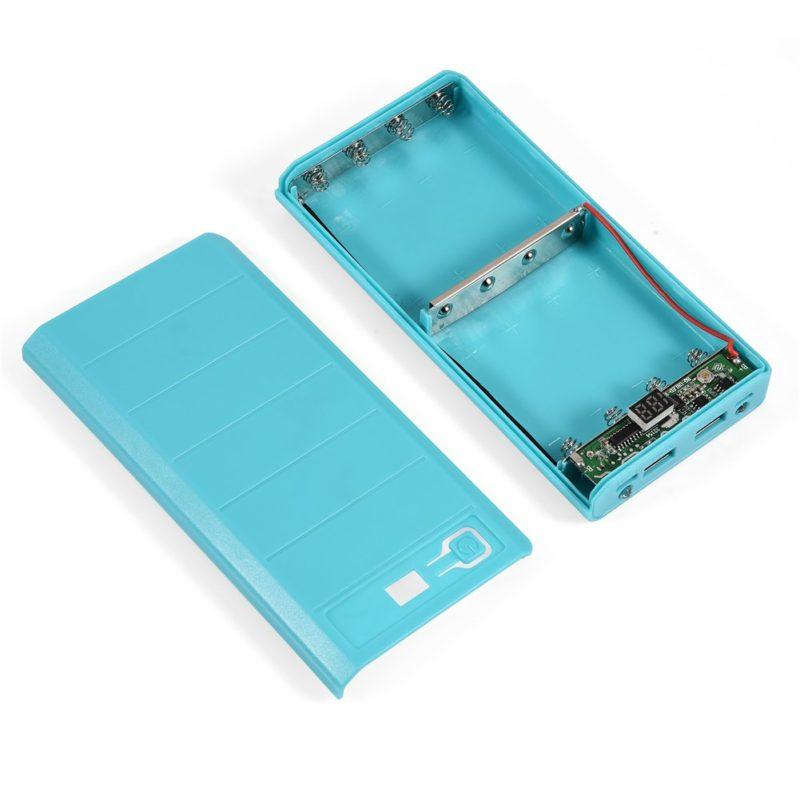 ASHATA DIY Power Bank Case, 20000mAh 8 x 18650 Dual USB Power Bank Case Shell DIY Kit Battery Charger