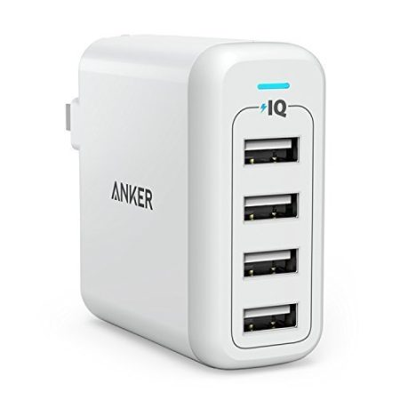 Anker 40W 4-Port USB Wall Charger, PowerPort
