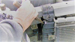 Repair a Radiator Leak Mount Bracket with Sealant