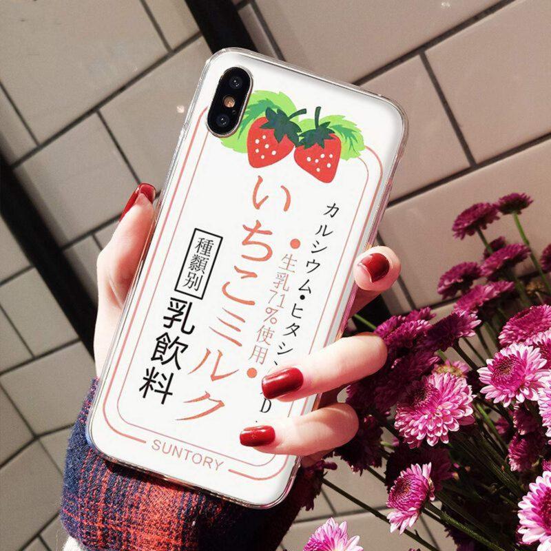 Summer Cute Strawberry Milk DIY Painted Beautiful Phone Case