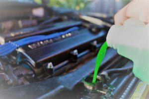 car radiator freezing a motor