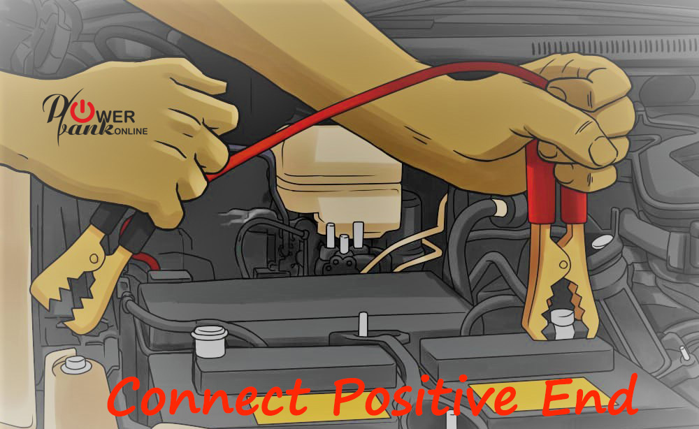 How to charge a car battery - connecting positive post