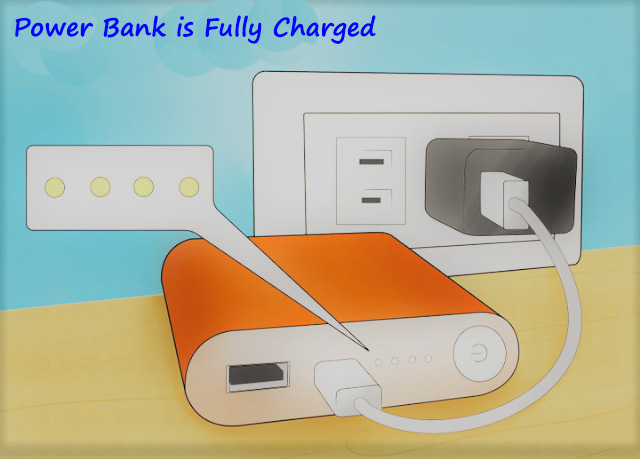 How to know power bank is fully charged