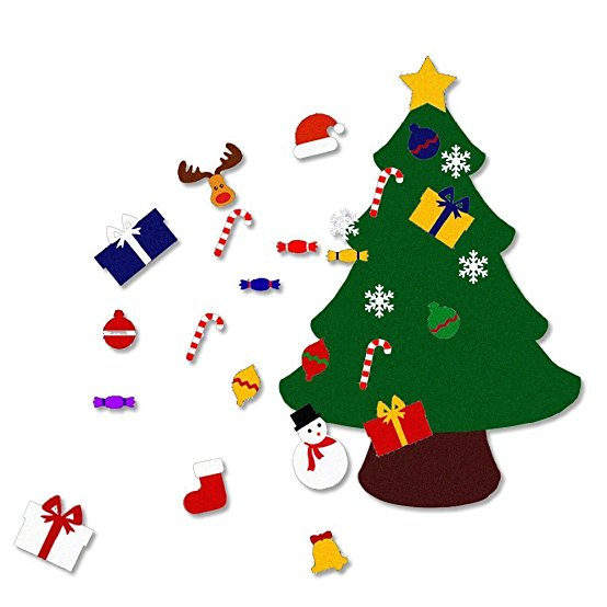 36ftlarge felt christmas tree set with ornaments double stitched wall - Best Artificial Christmas Tree Reviews