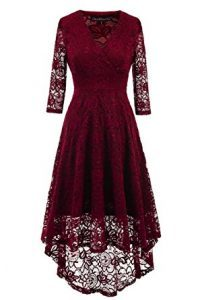 EvoLand Women's Lace 34 Sleeve Cocktail Evening Party Dress