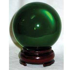 GREEN CRYSTAL BALL 80MM