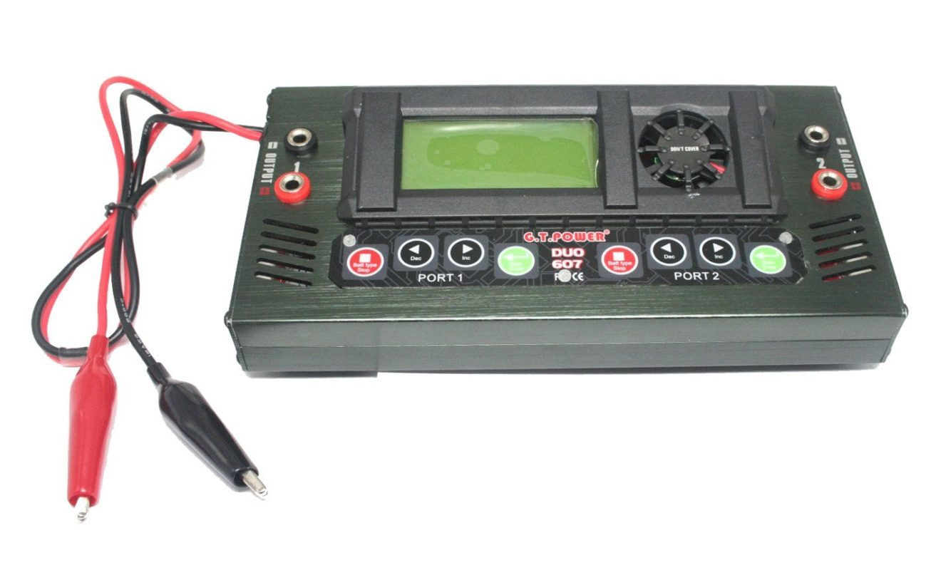 GT Power Duo 607 Dual Port RC LIPO - NiMH Battery Charger – Best LIPO Charger