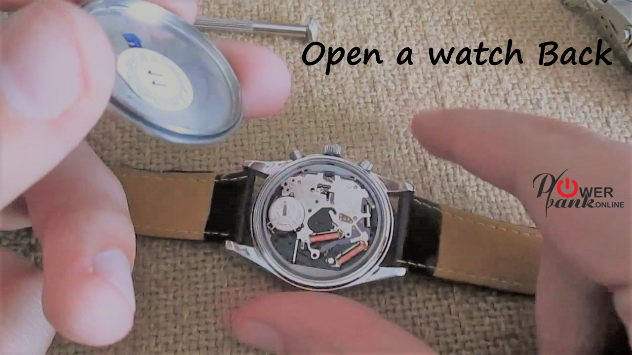 how to open a watch back
