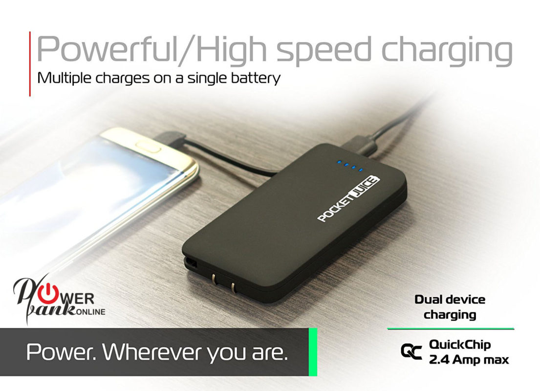 Pocket Juice Portable Charger wherever you want