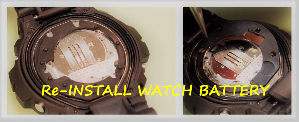 Reinstall Watch Battery - How to Replace a Watch Battery