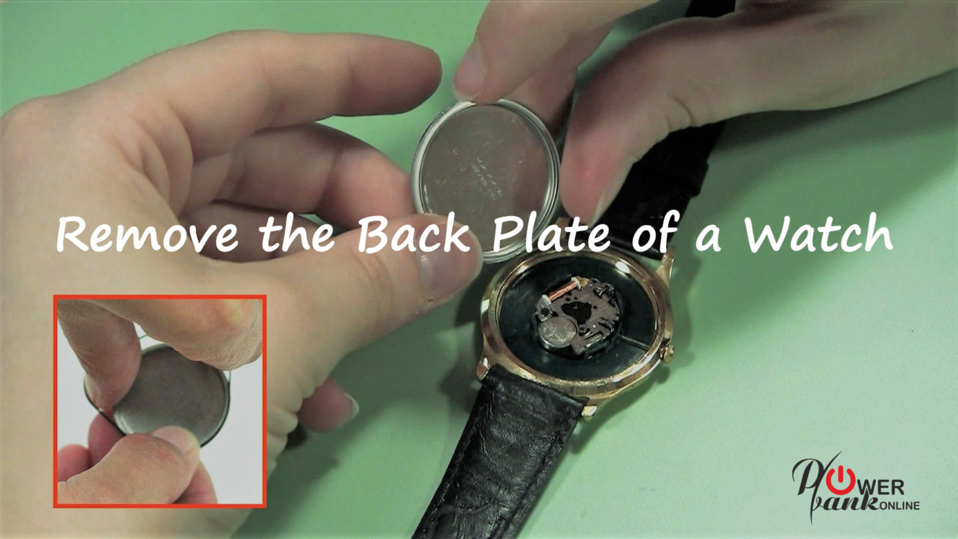 Remove the back plate of a watch