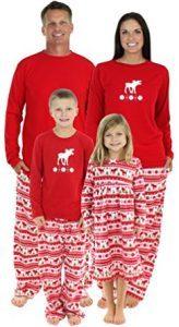 SleepytimePjs-Family-Matching-Moose-Fleece-Pajamas-PJs-Sets-for-the-Family