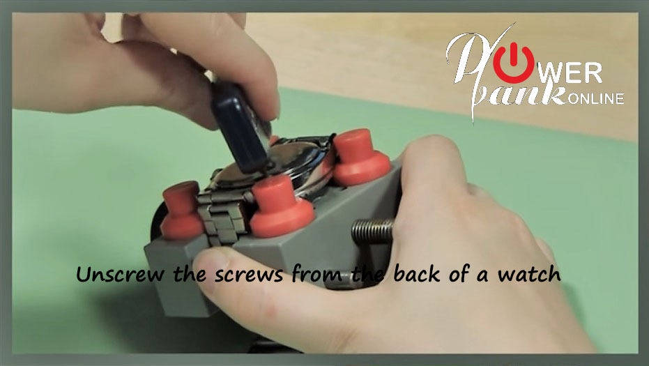 Unscrew the screws from the back of your watch