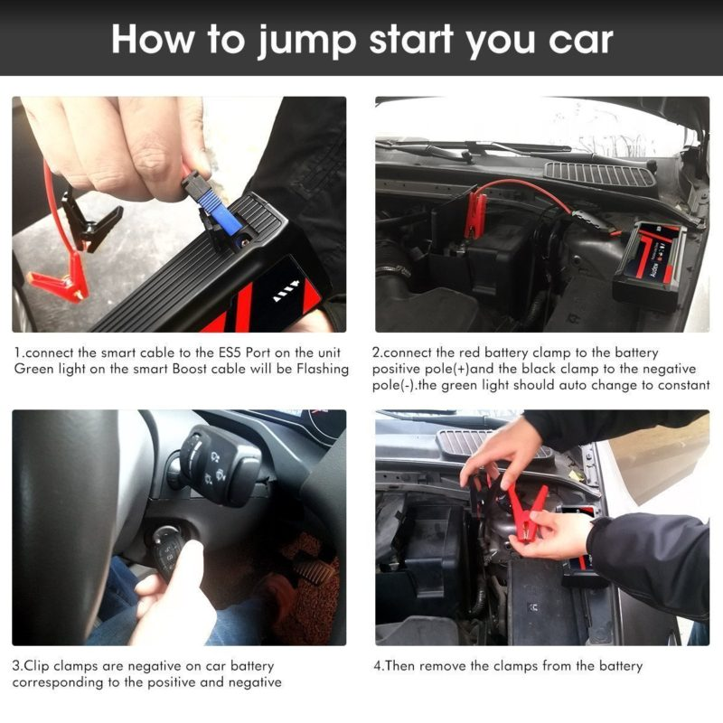 How To Jump Start A Car Battery Car Battery Jump Starter Guide And