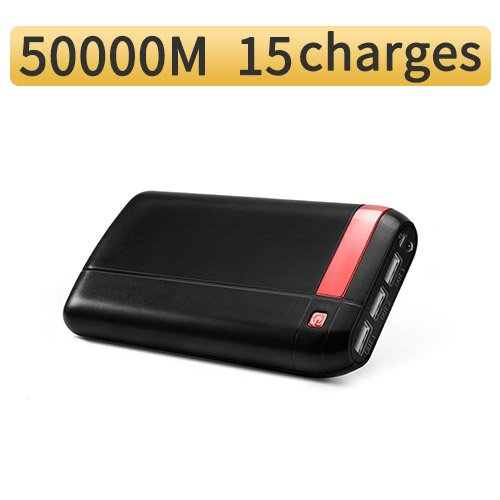 NMPB 50000M Power Bank External Battery Portable Charge pack for iPhoneX 8 & Tablets 20000mah (Black)