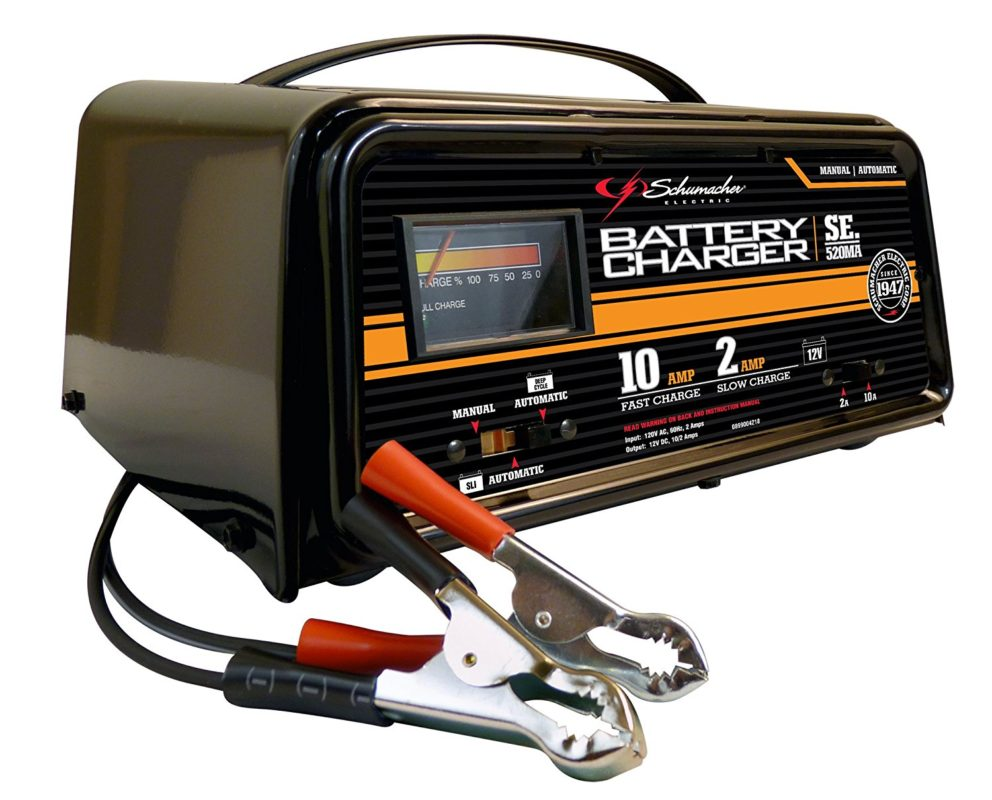 Schumacher SE-520MA 10 or 2 Amp Fully Automatic Dual-Rate Charger with LEDs