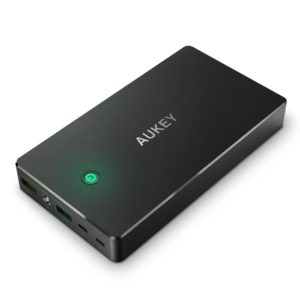 AUKEY 20000mAh Portable Charger with Quick Charge 3.0 Power Bank, Lightning & Micro Input Dual-USB Output Battery Pack for Samsung Note 8 OR S8