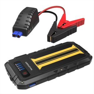 Car Jump Starter RAVPower 300A Peak Current (for All 12V 2.0 L Gas Engines) Quick Charge Power Bank 8000mAh Car Battery Booster