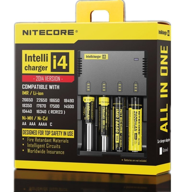 New 2014 version NITECORE i4 Intellicharge universal smart-battery Charger with Eleccessory(TM) Car Charger