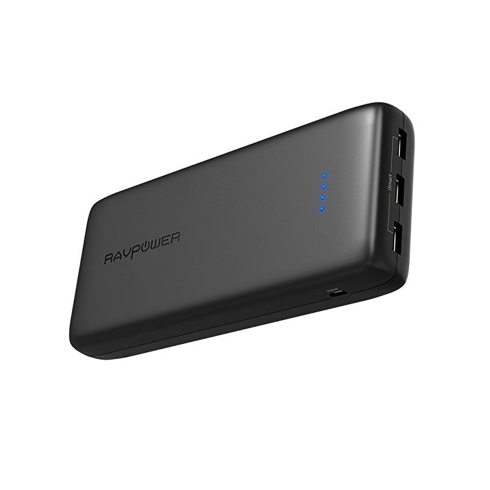 Power Banks RAVPower 32000mAh 6A Output Portable Charger, External Battery Pack (3-Port, 2.4A Input, Triple iSmart 2.0 USB, High-Density Li-Polymer Battery)