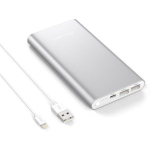 Apple Lightning Portable Power Bank, Poweradd Pilot 4GS 12000mAh External Battery Charger with 3A High-Speed Output for iPhone, iPad, iPod (Lightning Cable Included)