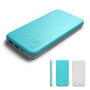 Portable Charger 10000mah, Puridea S2 Blue External Battery