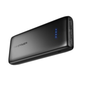 Power Banks RAVPower 22000 Portable Charger 22000mAh 5.8A Output 3-Port Battery Pack - Black