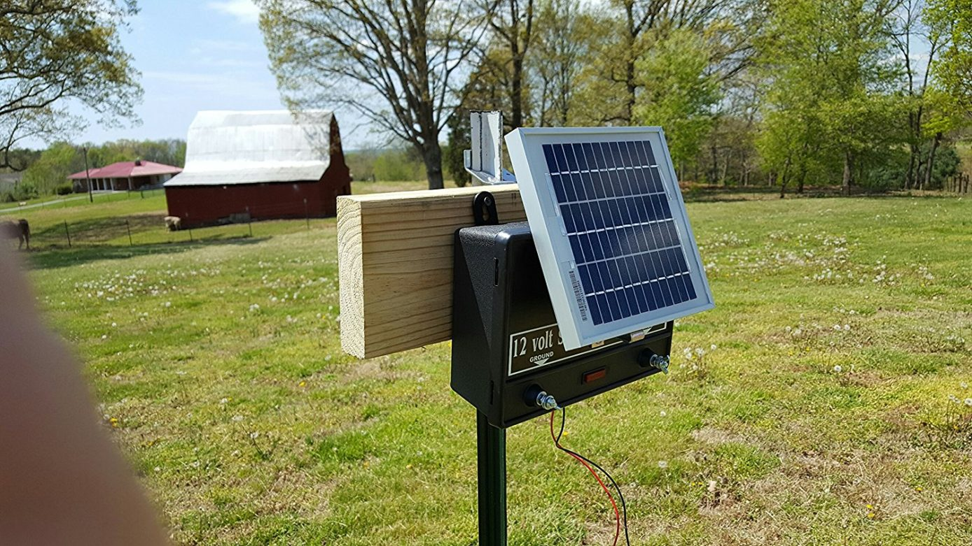 How To Charge A Car Battery Without A Charger >> T-Post Solar Charger Mounting Bracket