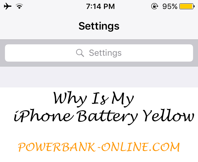 Why Is My Iphone Battery Yellow Low Power Mode 20182020 Usa