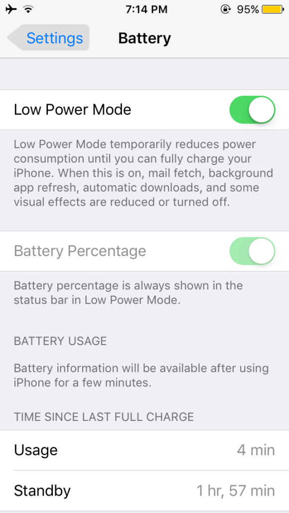 Why is my iPhone Battery Yellow - Low Power Mode