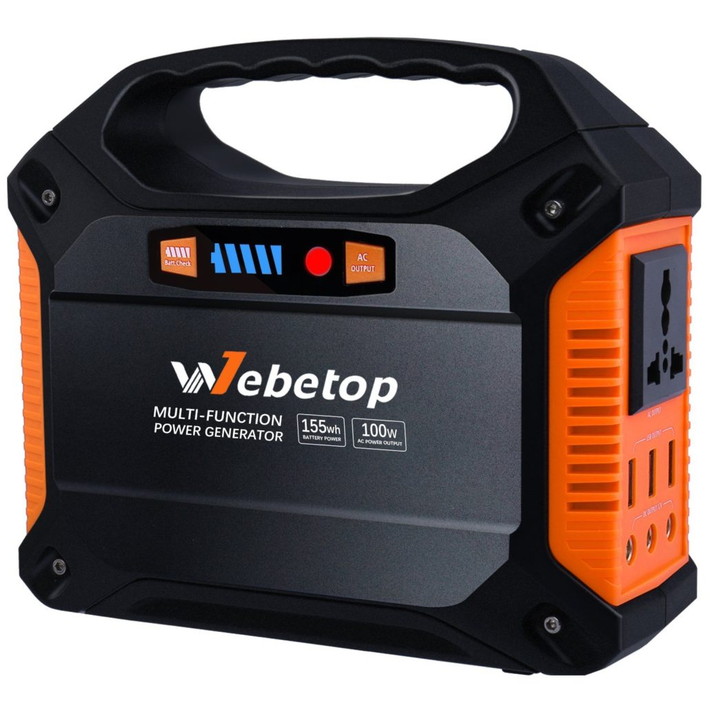 Top 9 Camping Power Generator Reviews Best For 12v Dc Converter Circuit Moreover 110 Ac To Car Charger Outlet3 12v3 Usb Port Webetop 155wh 42000mah Portable Inverter Battery 100w Emergency Home Use Ups Source